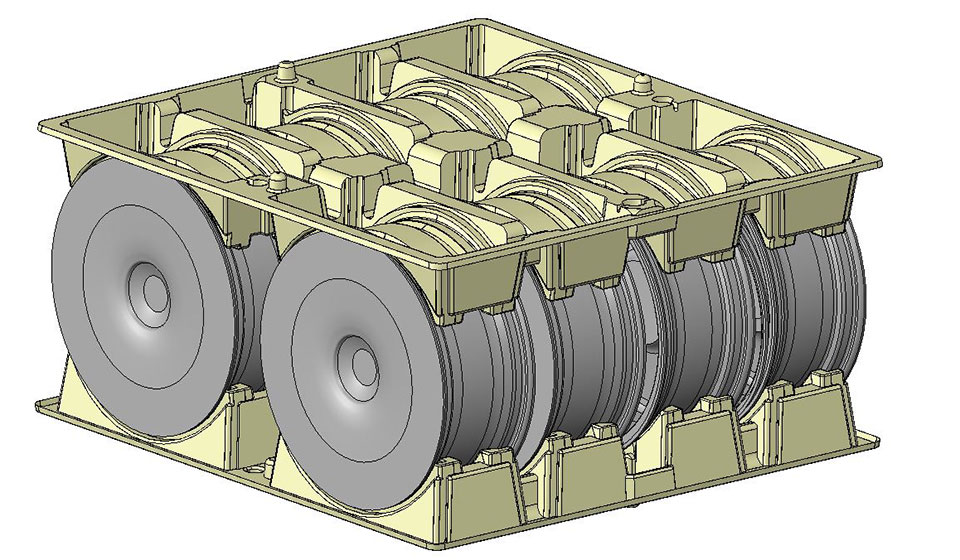 3D CAD Vertical Wheel Pack